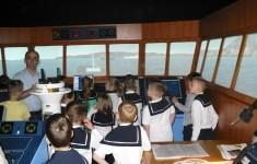 Udział klasy IIa w lekcji na symulatorach w Akademii Morskiej